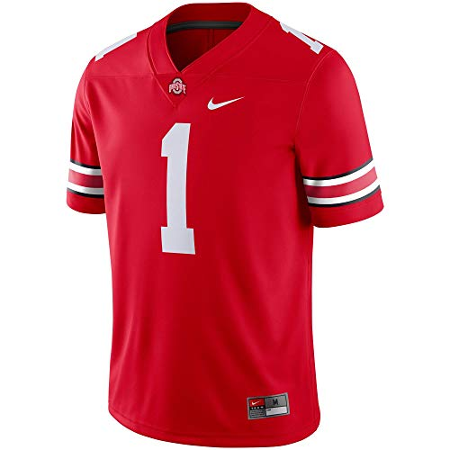 Ohio State Buckeyes Men's #1 Scarlet Game Jersey (XX-Large)