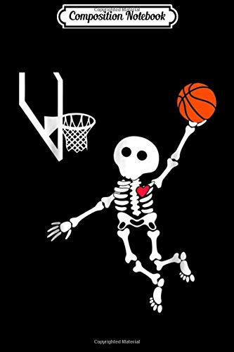 Composition Notebook: basketball skeleton halloween  Journal/Notebook Blank Lined Ruled 6x9 100 Pages