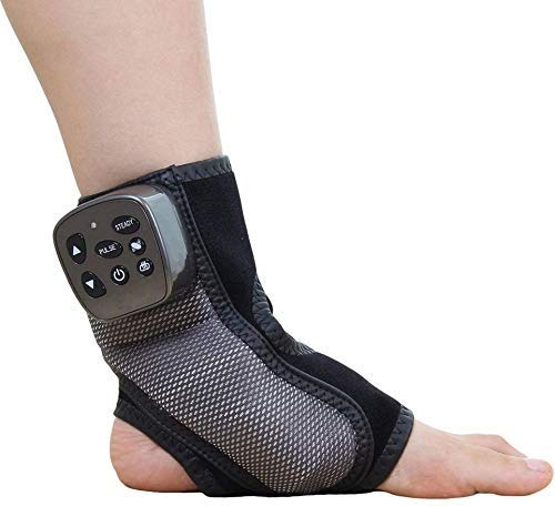 Electric Foot Ankle Massager, Multi-Level Settings Vibration Heating Acupuncture Points Pain Relief and Comfort Massage Therapy for Heels Toes and Ankles