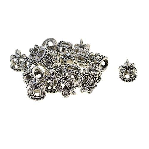20 pcs 3D Hohl Königskrone Schmuckzubehör Basteln Charms Anhänger für Halskette, Armbänder, Ohrringe