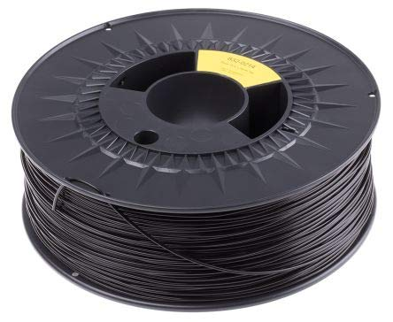 RS PRO 1.75mm Black PLA 3D Printer Filament, 1kg