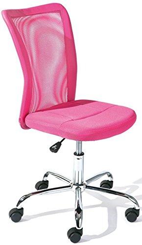 PEGANE Chaise de Bureau Rose en Polyester, Dim : L43 x H88 x P56 cm
