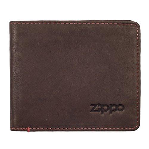 Portafoglio da uomo bi-fold wallet-zippo-2005119-brown-gift boxed