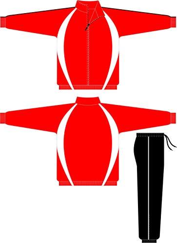 Lisaro Trainingsanzug Paris, Arbeitsanzug rot-schwarz-Weiss (S)