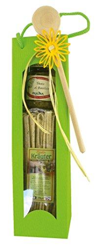 Geschenkset Bandnudeln Pasta Kräuter mit Pesto al Basilico