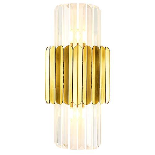 Wandlamp, creatieve, eenvoudige heldere luxe kristallen wandlampenkamer-nachtkast-wandlamp voor de achtergrond.