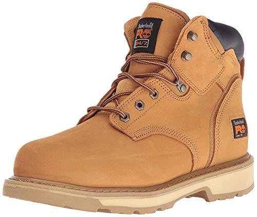Timberland PRO - - Chaussure de sécurité Pit Boss en Acier pour Homme, 6 po, 43.5 2E EU, Wheat