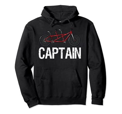 Tandem Bike Captain Gifts Fahrradfahren Pullover Hoodie