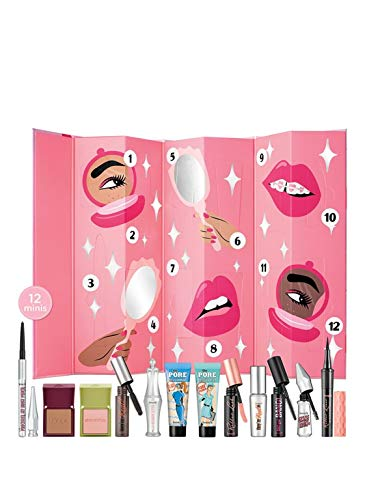 Benefit Adventskalender 2020 Frauen, Beauty Advent Kalender für Frau, Beautykalender -Wert 300 €-, Kosmetik Kalender mit 24x Damen Beauty