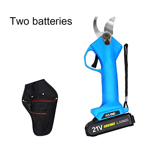 Sale!! CBPE 21V Professional Cordless Electric Pruning Shears with 2 Pack Backup Rechargeable 4.0Ah ...