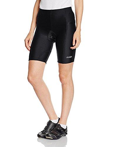 Gregster Damen Fahrradhose, Radlerhose und Radhose kurz, Shorts für Fahrrad mit Polster atmungsaktiv, schwarz, L
