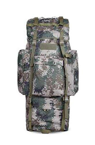 Black Temptation Randonnée en Plein air Camping 65 L Sacs à Dos de Camouflage Militaires Tactiques de Grande capacité pour Adultes #10