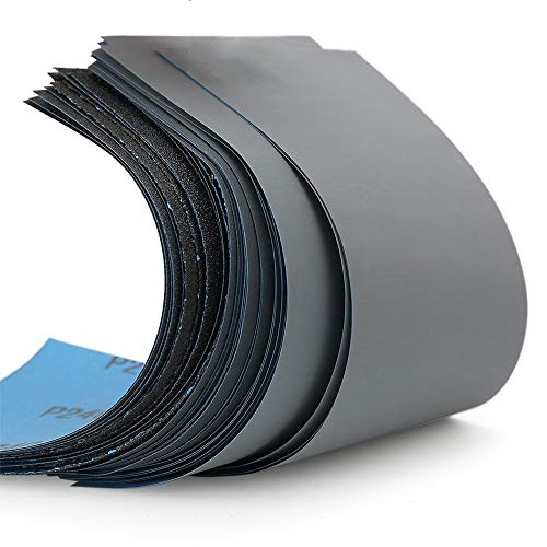 Papier abrasif ultrafin grain 120 à 10000, métal, bois, matériel de polissage papier de verre 17 feuilles (9 * 3.6inch 17PCS)
