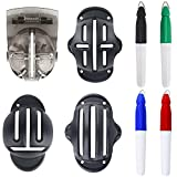 Vibit 4 PCS Golf Ball Liner Template Golf Alignment Kit with 4 Marker Pens, Maximum 4 Tracks Stencil Ball Marking Tools Accessories