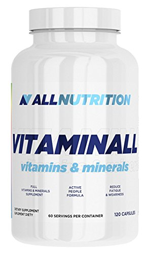 All Nutrition Vitaminall Vitamins and Minerals 120 Capsules