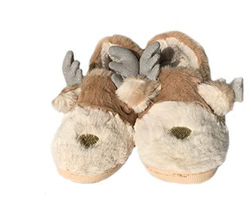 Tier Hausschuhe Weihnachten Elch Hausschuhe, Winter Warme Hausschuhe Frauen Hausschuhe Paar Hausschuhe Familie Hausschuhe (44-45 EU, Shoes)