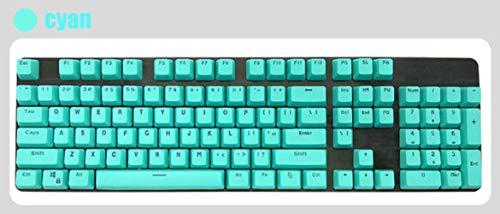 Inglés / PBT Languag KeyCaps opciones de color rusos Variedad de cereza MX teclado mecánico de teclas puede activar tapa 108 Keyscaps,PBT cian-bule