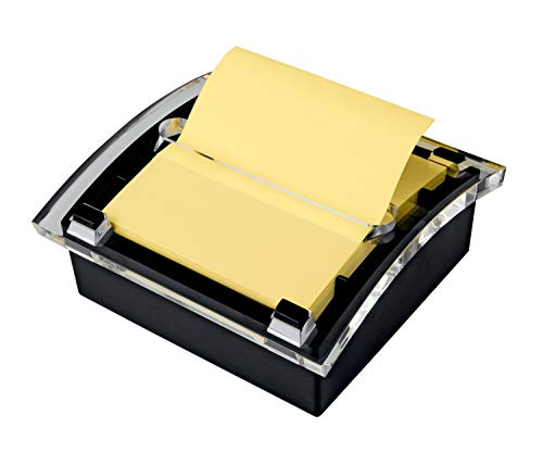 Post-it Pop-up Notes Dispenser, 3 in x 3 in, Black Base Clear Top (DS330-BK)