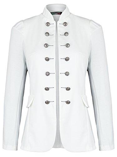 Damen Blazer Militäry Style (513) (44 / XXL, Weiß)