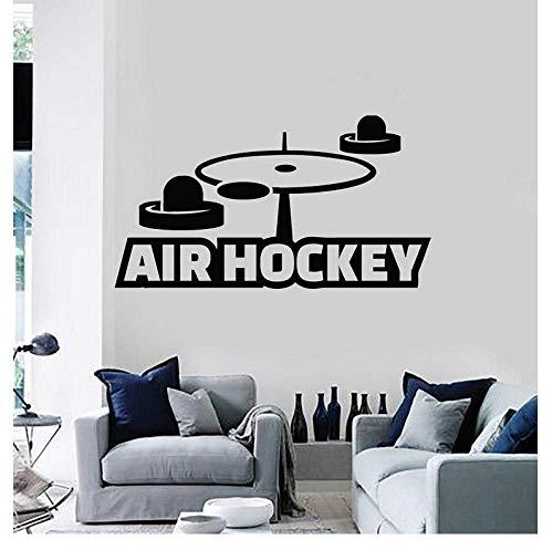 77X42 Cm Vinyl Wand Applique Air Hockey Freizeit Hobby Sport Unterhaltung Aufkleber Wandbild Wohnzimmer Schlafzimmer Dekoration