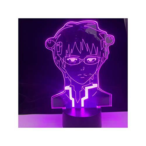 TIDRT Cumpleaños Lámpara De Anime para Dormitorio Lámpara De Acrílico 3D Decoración Luz De Noche Ventilador para Niños