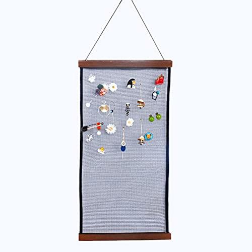 HHHJ Pared Colgante Organizador de Almacenamiento de joyería Soporte de Almacenamiento de Joyas Exhibición de Joyería Organizador para Collar Anillo Arete Tela de Malla -Gran Capacidad
