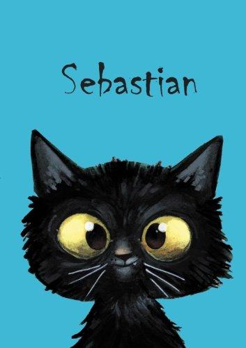 Sebastian - Coloring Book / Notebook / Diary - DIN A5 - cat – blank