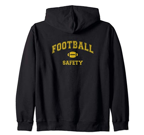 Vintage Football Team, Safety, distressed Sudadera con Capucha