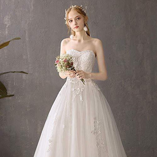 Kleid Hochzeitskleid Light a Wedding Dress Minimalist Bh Brautkleid Rock Zwei Braut Sen Abteilung Hepburn Einfache White Tail Braut Brautkleid Prom/Íïβ¿Î/s, L-F, Æëµø¿î, s