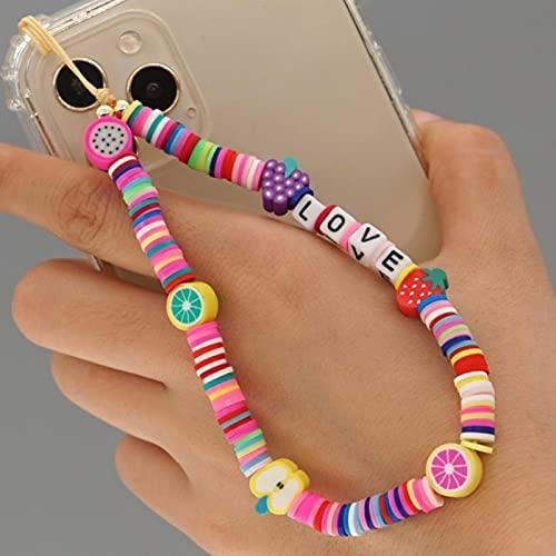 TIANGUO Cadenas de teléfonos celulares Correas de Cuentas con Cuentas Cadena de teléfono móvil Cuerda de cordón de Color Encanto de Encanto de Encanto 2021 joyería