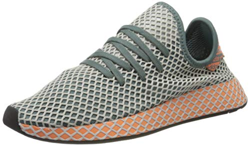 adidas Deerupt Runner, Zapatillas Hombre, Raw Green/Grey One F17/Amber Tint, 43 1/3 EU
