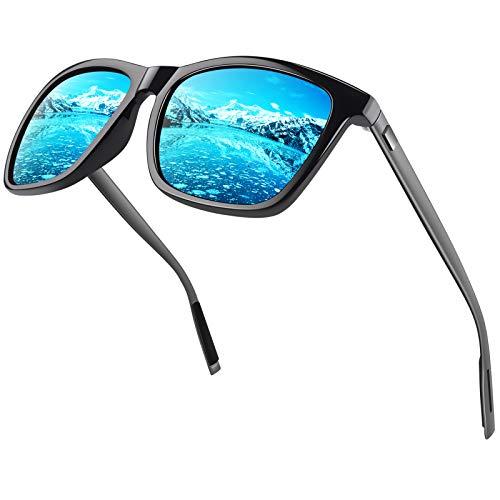 CGID cuadradas Retro Deportivas Diseñador Gafas de sol clásicas para hombres y mujeres Gafas de sol polarizadas Tonos Gafas Al-Mg Metal Templádos Ultra Light 100% UV400 Protección MJ33