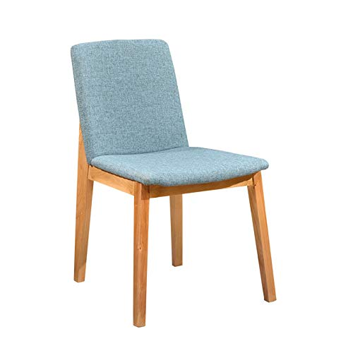 YYZZD Nordic Solid Wood Dining Chair Circle Chair Back Chair, Soro Chair, Cotton and Linen Fabric