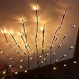 Mobestech 1 pz ramo ramoscello luce natale led simulativo salice ramoscello ramo luci albero alimentato a batteria decorazione luce con 20 lampade per la casa di natale