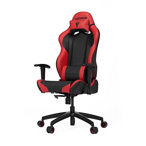 VERTAGEAR Gaming Chair Racing Seat, S-Line Slim SL2000 BIFMA Cert, Black/Red