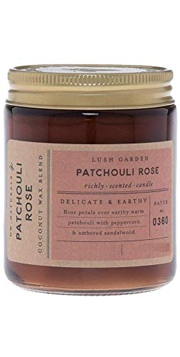 Decoware DW Home Naturals Patchouli Rose Scented Candle, Single Wick, 17.8 Oz, Coconut Wax Blend