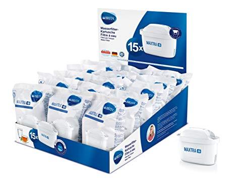 BRITA Wasserfilter-Kartusche MAXTRA+ 15er Pack – Kartuschen für alle BRITA Wasserfilter zur Reduzierung von Kalk, Chlor & geschmacksstörenden Stoffen im Leitungswasser