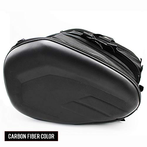 LIWIN Motoraccessoires Promotie Deal motorfiets zadeltas Saddlebags Bagage Koffer Motorbike Rear Seat Bag Saddle tas met waterdichte hoes SA212 (Color Name : Carbon fiber color)