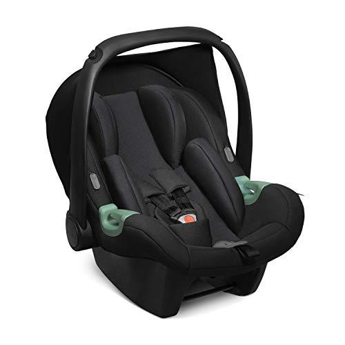 ABC Design Baby Autositz Tulip – Babyschale für Gruppe 0+ i-Size bis 13 KG – Verstellbare Kopfstütze – Seitenaufprallschutz & 3-Punkt-Gurtsystem – Farbe: black