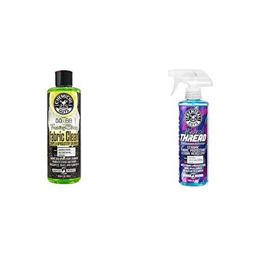 Chemical Guys Fabric Cleaner & Ceramic Fabric Protectant Bundle - Foaming Citrus Fabric & Upholstery Cleaner and HydroThread Ceramic Protectant (2 16 oz Bottles)