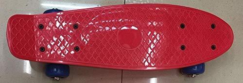 CHENTAOCS Direct Explosion von 43,2 cm Fischteller Kinder Scooter 4 Rad Skateboard Snake Board Flat Board PU Räder Unisex, violett