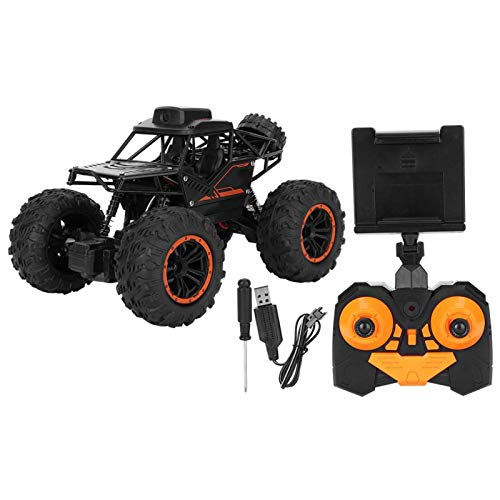 Coche de Control Remoto 1:18 2.4G RC Crawler Car Toy 360 ° Doble Giro Lateral Vehículo Todoterreno Juguete con cámara para niños