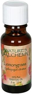 Nature's Alchemy Essential Oil, Lemongrass (Cymbopogon Citratus), 0.5 oz (15 ml) (Pack of 4)
