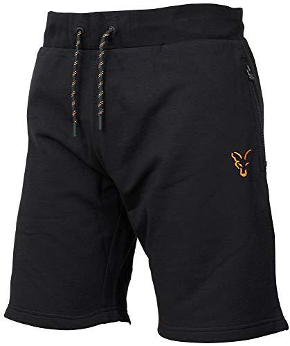Fox Collection Black Orange LW Shorts - kurze Angelhose für Karpfenangler & Wallerangler, Kurzehose, Sporthose, Hose für Angler, Größe:XXL