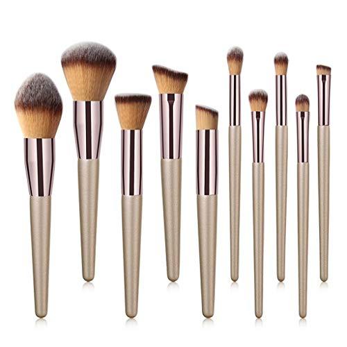 S-TROUBLE 10 pcs Kabuki Pinceaux de Maquillage Set Foundation Face Poudre Blush Fard À Paupières Brosse À Lèvres