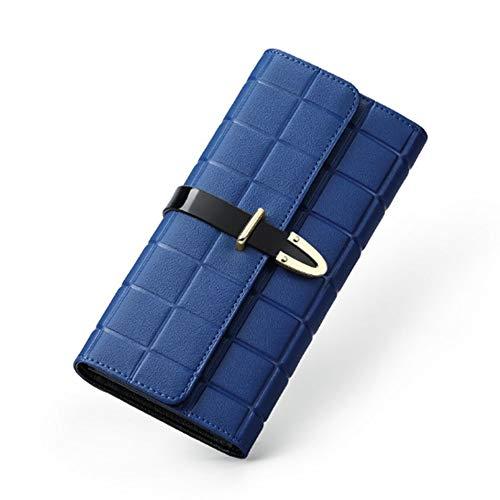 Y-hm Leichtes Design Damenmode Trend Arrow Leder Barbaric Diamant Leder Brieftasche Mode perfekt (Color : Blue, Size : 19 * 10 * 2CM)