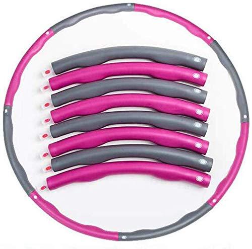 Haojie Hula-Reifen Erwachsene Fitness, Frau 1kg Verstellbare Übung abnehmbare Masse billig Gewichtsverlustmassage mit Schaumstoffverstärkungs-Hoola-Reifen,A,8 Knots