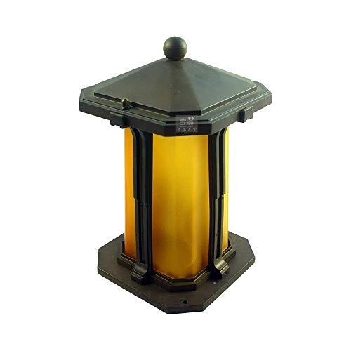 GYC Traditional Classical Outdoor Poller Säule Lampe Gate Court Garden wasserdichte Post Laterne Zaun Patio Pathway Pillar Light mit Teeglas Column Light E27
