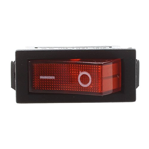 SODIAL(R) AC 16A / 250V 20A / 125V Luz Roja Iluminado On Off