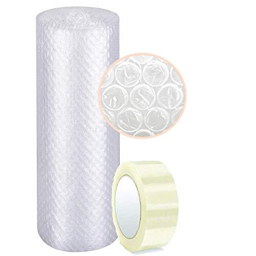 Papel burbujas embalaje 【100 cm de ancho x 40 m lineales + CINTA EMBALAJE 100M】rollo de plastico de triple capa, mayor resistencia y durabilidad, ideal para amortiguar cualquier producto